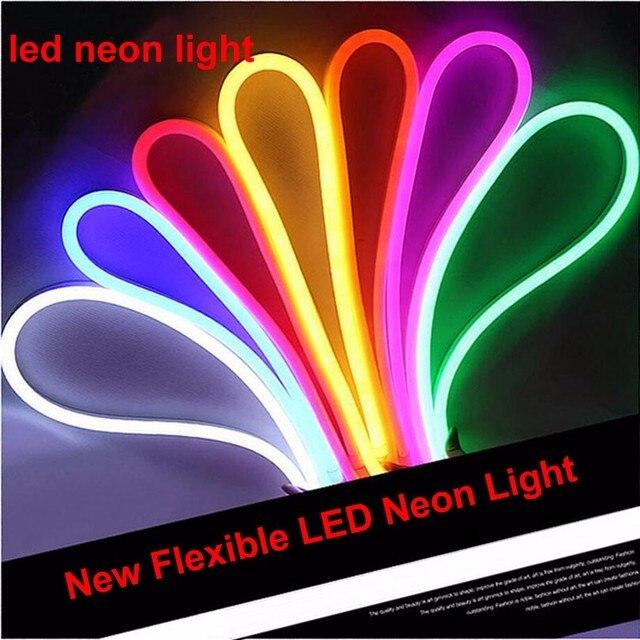 مقاوم للماء IP65 LED ضوء النيون من المنزل ضوء المنزل فندق علامات النمذجة DIY بها بنفسك الديكور الإعلان 220 فولت LED فليكس ضوء النيون
