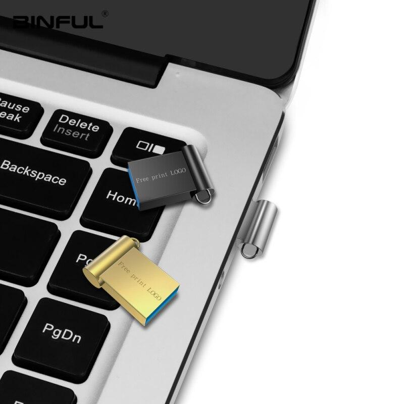 Image 5 - New Usb Flash Drive 32GB Super Mini Metal Pen Drive 16GB 4GB 8GB 64GB 128GB Flash Disk Usb 3.0 High Speed Pendrive Thumbdrives-in USB Flash Drives from Computer & Office