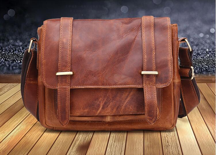 new arrival genine leather men's briefcase vintage messenger bag one shoulder cross body bag first layer cowhide leather bag qiaobao 2018 new korean version of the first layer of women s leather packet messenger bag female shoulder diagonal cross bag