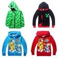 Jogo Hot Pokeball Monstro de Bolso Pikachu Squirtle Dos Desenhos Animados Manga Longa Crianças Camisola de Algodão Casaco de Inverno Crianças Roupas Quentes # D