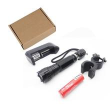 лучшая цена Black 501B XM-LT61000 Lumens 5 Mode LED Flashlight Flashlight Light Hunting Tactical Flashlight Luz Flash 18650 Battery