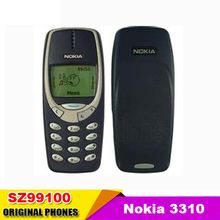 Nokia 3310 teléfono celular original reformado gsm 900/1800 dualband desbloqueado azul don oscuro