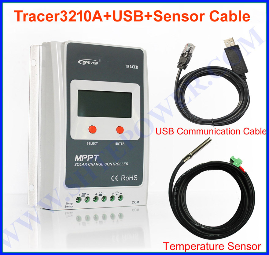 new tracer3210a mppt charge solar controller ,12v 24v auto control,30a controller