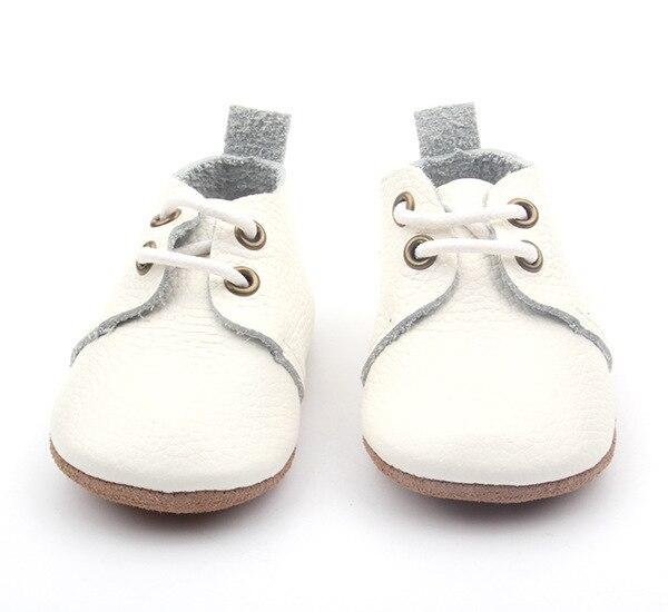4 пар/лот Новый Натуральная Кожа белый твердые Детские Мокасины Обувь узелок Детская Обувь Новорожденные первые ходунки Детские Ботинки