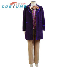 Willy Wonka and the Chocolate Factory 1971 Men Jacket Coat Pant Tie For Men Movie Halloween Cosplay Costume Custom Made