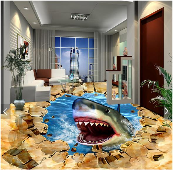 Online Buy Wholesale Shark Wallpaper Murals From China