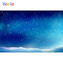Yeele Frozen Princess Snow Night Sky Stars Scenery Personalized Photographic Backgrounds Photography Backdrops For Photo Studio