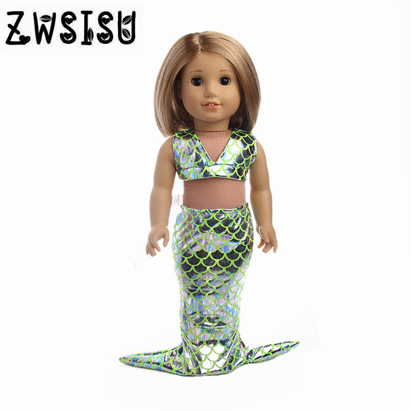 Doll Clothes 15 Colors  New Mermaid Clothes For  18 Inch American Doll & 43 Cm Born Doll For Generation Girl`s Toy