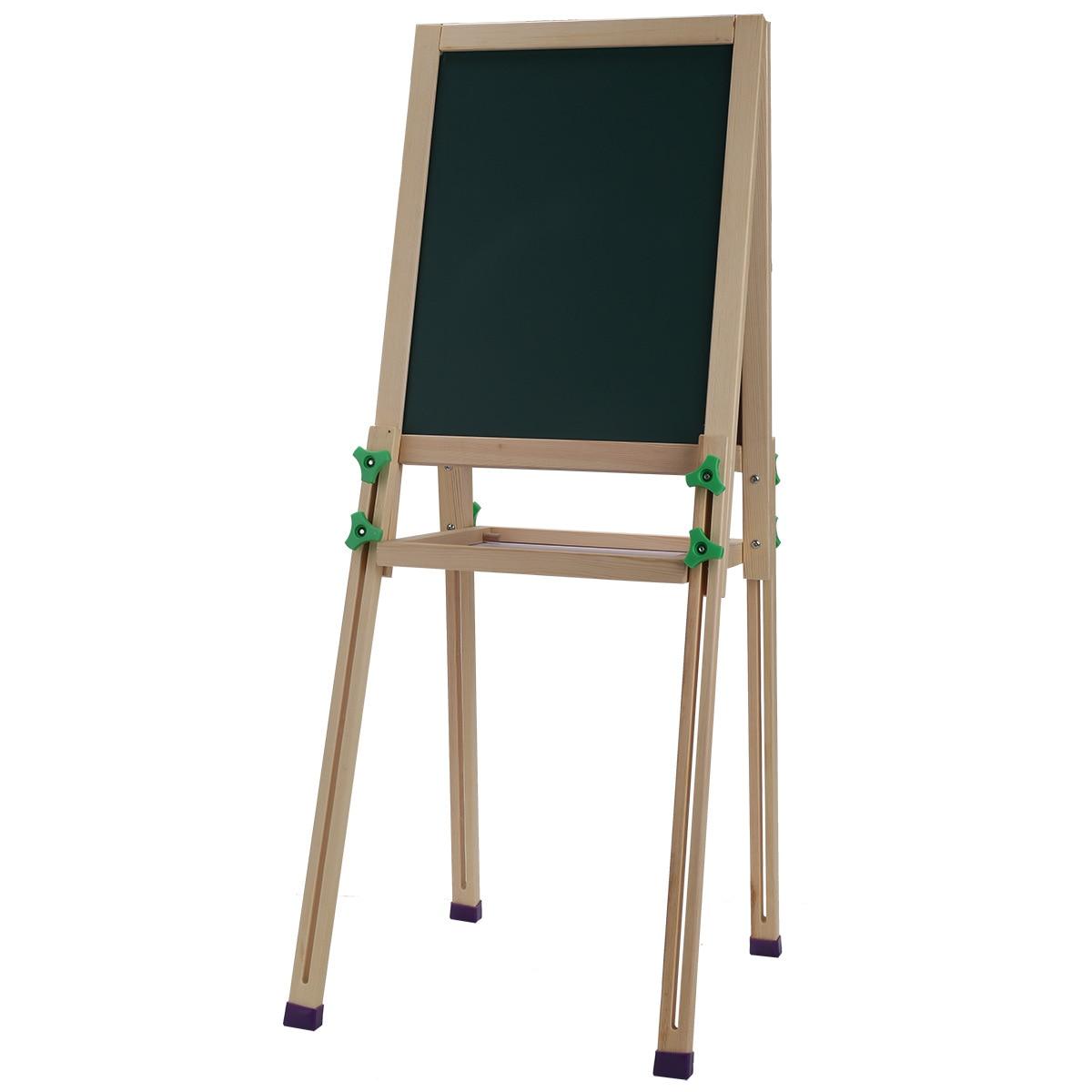 1 Pcs Deli Children Wood Easel Art Double Small Blackboard Scaffolding Painting Office School Supplies Stationery deli heavy duty hole punch office school supplies stationery 0150