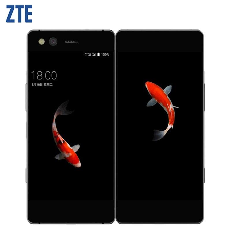 Originale ZTE AXON M schermo Pieghevole A Doppio Schermo 5.2 pollici Del Telefono Cellulare 4 gb di RAM 64 gb MSM8996 Pro Quad core Android 7.1 20MP Smartphone