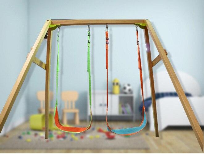 Yontree 1 pc leaf hanging swing children indoor outdoor for Indoor swing seat