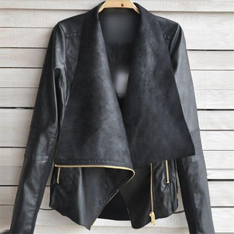 Женская замшевая куртка из искусственной кожи, модная матовая байкерская куртка из искусственной кожи, верхняя одежда для осени и зимы, 2018|Кожаные куртки|   | АлиЭкспресс