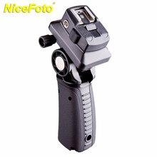 Suporte do flash da câmera g tipo adaptador de sapato quente com montagem guarda chuva 180 rotação aperto de mão e ajuste tripé suporte FLH G