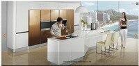 Lacquer high gloss Kitchen cabinet(LH LA012)