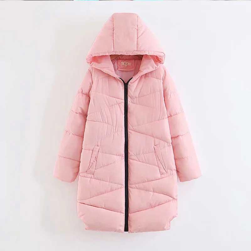 Grande taille femmes hiver manteau veste femmes Long duvet coton veste 2018 longueur mode rose hiver Parka femmes lâche Outwear w796