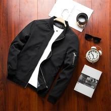New Spring Black Bomber Jacket Men Streetwear Hip Hop Slim F