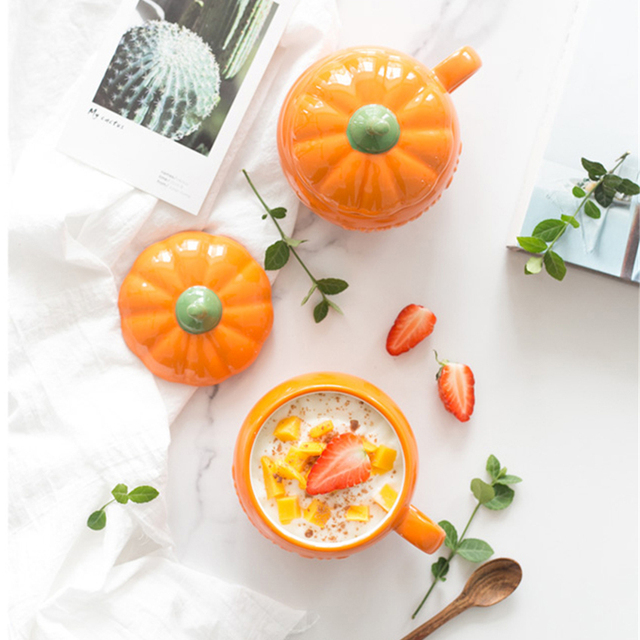 Beautiful Halloween Pumpkin Cup and Cover 250ml 5