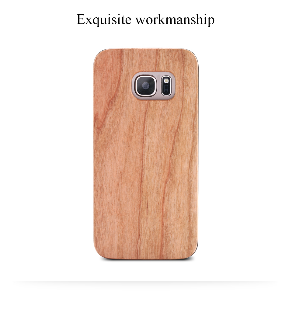 For Samsung Galaxy S8 Plus Real Wooden Case For Samsung S8 Galaxy S7 S6 Edge Back Cover (4)