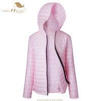 SISHION 2018 Autumn Winter Jackets Women Plus Size Black Pink Womens Parkas Thin Outerwear Solid Short Female Slim Coats VD0914
