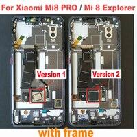 Лучший рабочий Amoled ЖК дисплей Сенсорная панель экран дигитайзер сборка с рамкой для Xiao mi 8 PRO mi 8 Explorer телефон сенсор