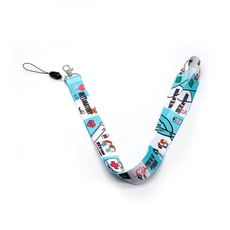 Grey's Anatomy TV Show Lanyard ID Holder Watercolor Fabric Lanyards Mobile Phone Badge Holder Hang Rope Lariat Key Ring S25