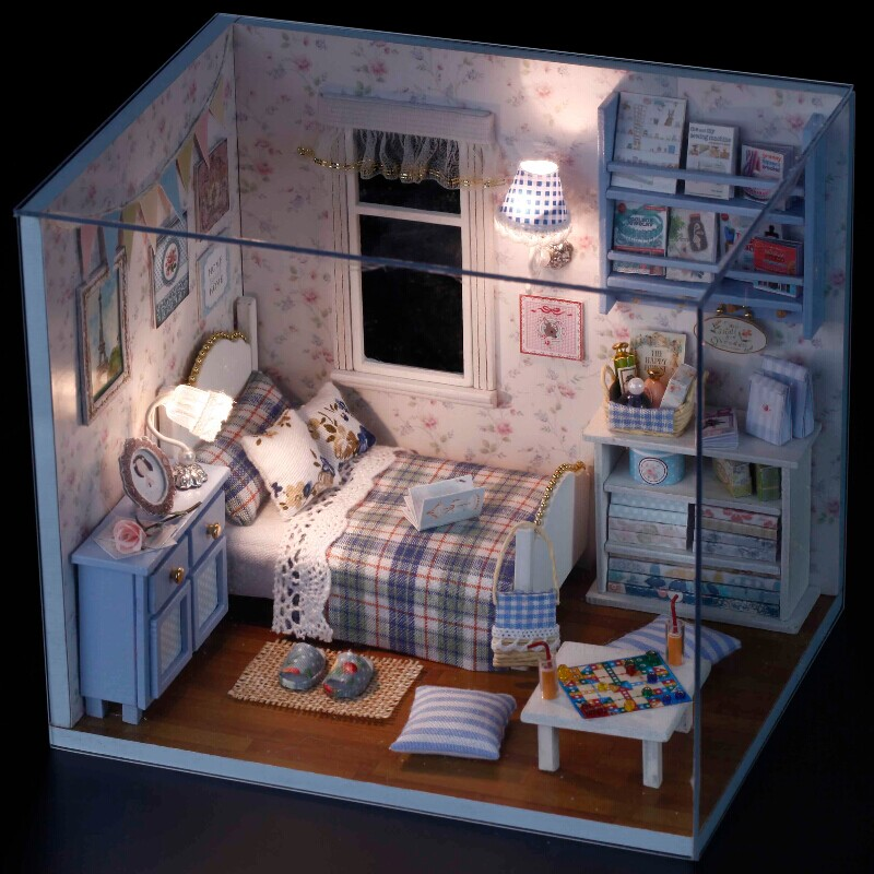 Home Decoration Crafts DIY Doll House Wooden Doll Houses