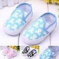 Sapatos Prewalker do bebê Impressão Menina Toddlers Recém-nascidos mocassins sapatos infantis Primeiros Caminhantes bebes marca Crânio Novo