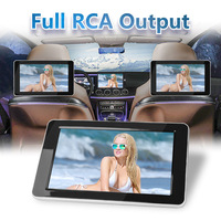 Car Headrest Rear Seat Entertainment 9 inch TFT Color LCD Headrest DVD Monitors Input AV Monitor for Car Audio DVD Player