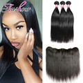 Malayisan Straight Hair With Frontal 3Bundles Ear To Ear Lace Frontal Closure With Bundles Ms Lula Hair With Frontal And Bundles