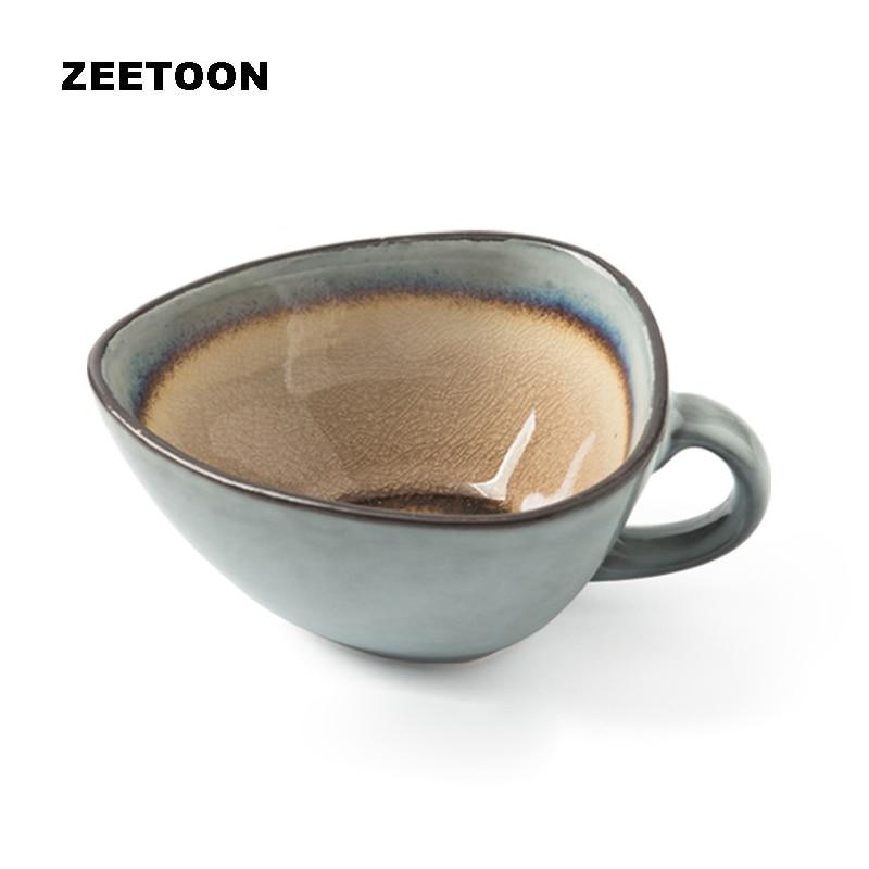 150ml vintage norway coast style creative triangle coffee cup and saucer set ceramics coffee mug. Black Bedroom Furniture Sets. Home Design Ideas