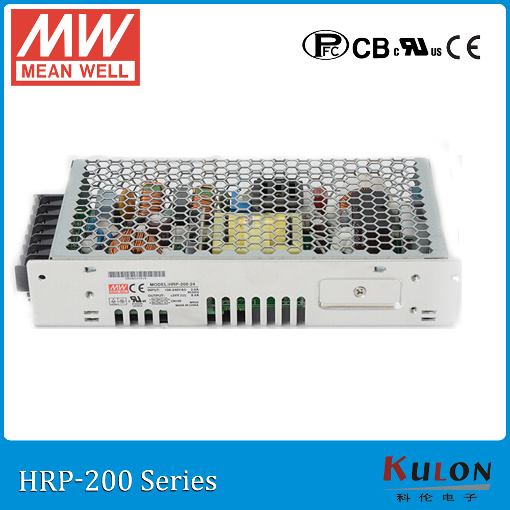 Original MEAN WELL HRP-200-24 single output 200W 8.4A 24V meanwell Power Supply HRP-200 with PFC function цены