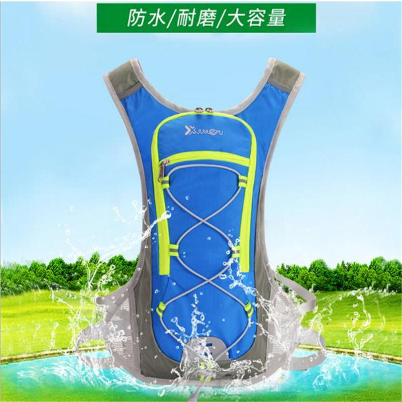 Running Marathon Bag JUNLETU 2017 Nylon Sports Bag Cycling Backpack For 2L Water Bag Outdoor Climbing Hiking Bag in Climbing Bags from Sports Entertainment