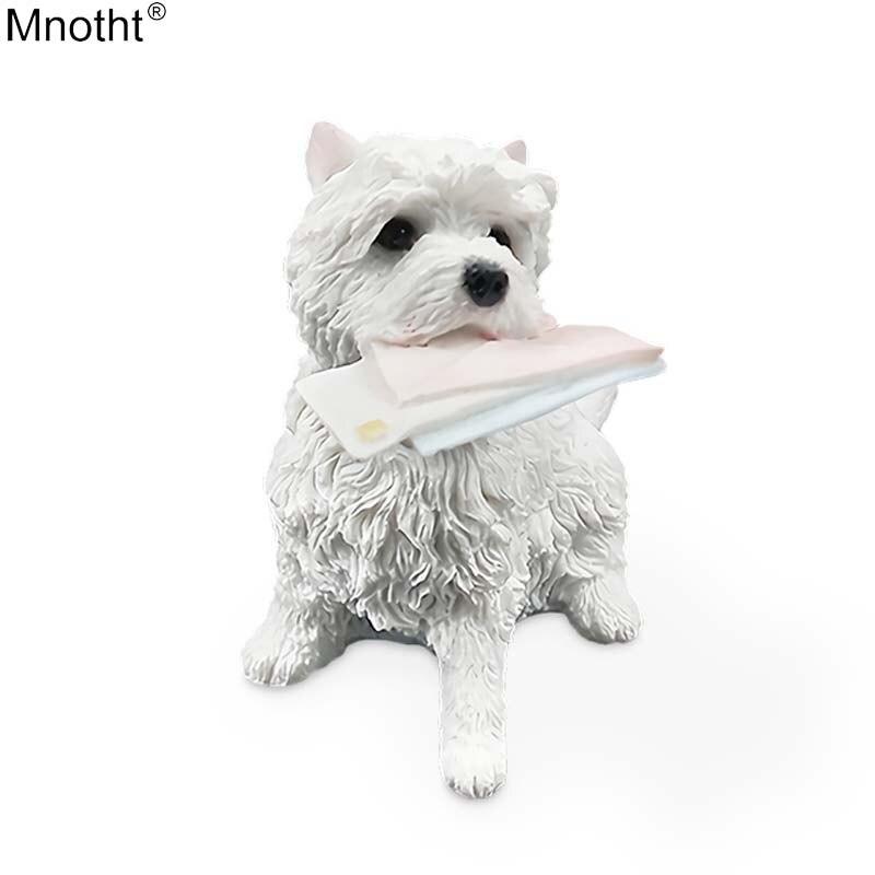 Mnotht 1/6 Mini West Highland Terrier Sit Bite boríték szimuláció - Játék figurák