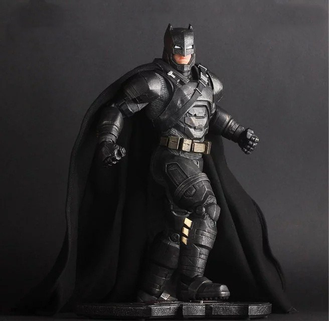 Huong Movie 30CM Batman v Superman: Dawn of Justice The Dark Night Batman Armored/Blinde PVC Figure Collectible Model Toys