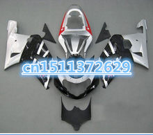 Bo Black&White for A GSX R600 R750 01-03 GSXR 600 GSXR600 GSXR750 GSX-R600 750 K1 01 02 03 2001 2002 2003 Fairing Kit(China)