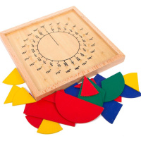 Fraction Circle Maths Learning Aids Mathematics Teaching tools Learning Resource