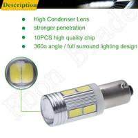 smd 5630 led 2Pcs Hot H21W BAY9S 5630 5730 10 SMD LED Auto Lens Car Backup Reverse Lights Rear Fog lamp Indicator Turn Corner Bulb White 12V (5)