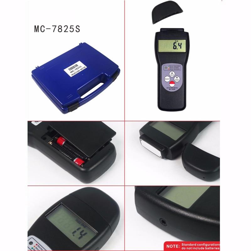 MC 7825S di Umidità del Tester del tester Tipo di Ricerca Digitale In Fibra di Legno Terreno Gamma di 0 ~ 70% Portatile di Umidità Gauge Display LCD - 4