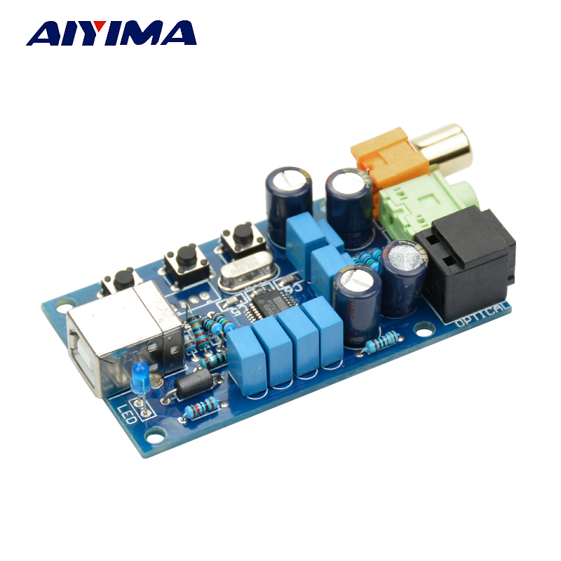 Aiyima PCM2704 USB DAC Decoder Computer Sound Card Support Fiber Coaxial Digital Analog Sound Output With Volume Control