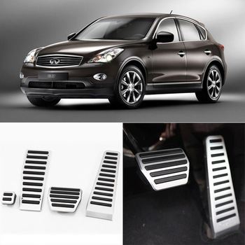 Brand New 4pcs Aluminium Non Slip Foot Rest Fuel Gas Brake Pedal Cover For Infiniti EX AT 2008-2013