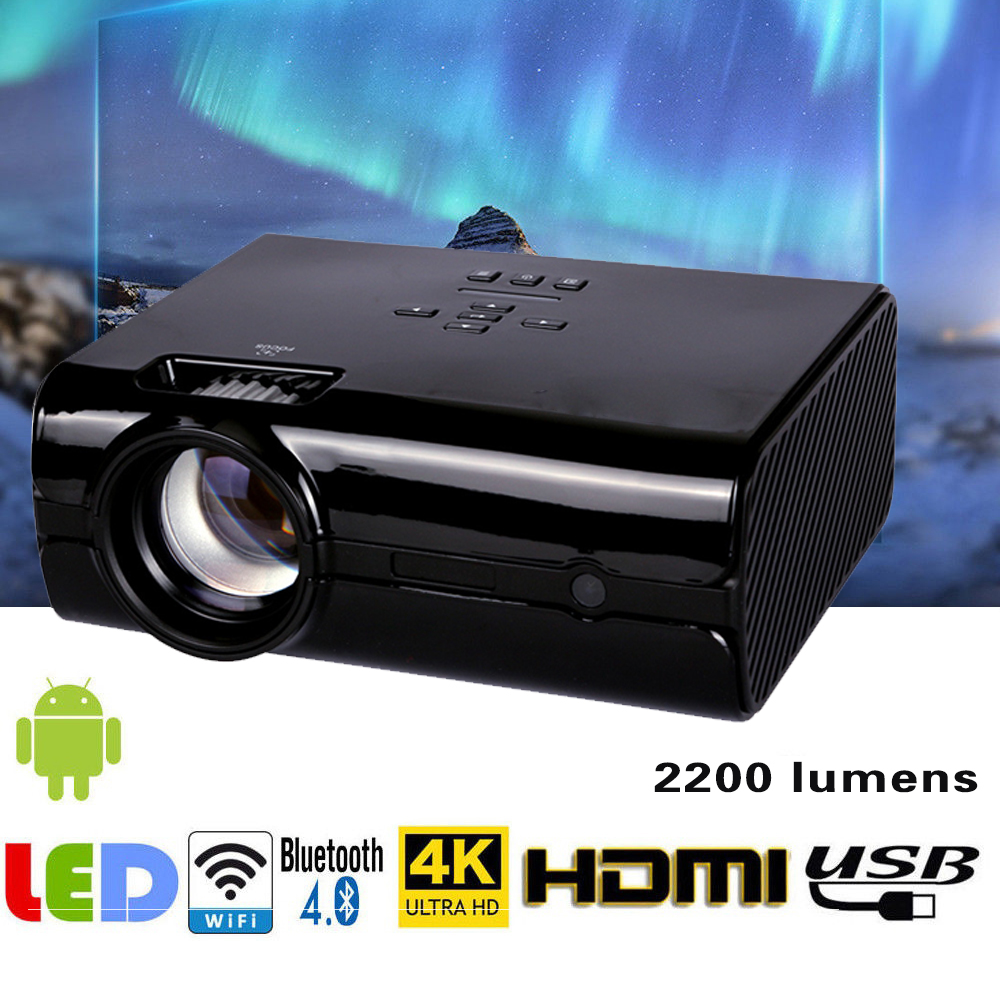 где купить Video Projector 2200 Lumens 4Inch Mini LED Projector Home Theater 20000 Hour LED Video Projector support 1080P home theater 5.1 дешево