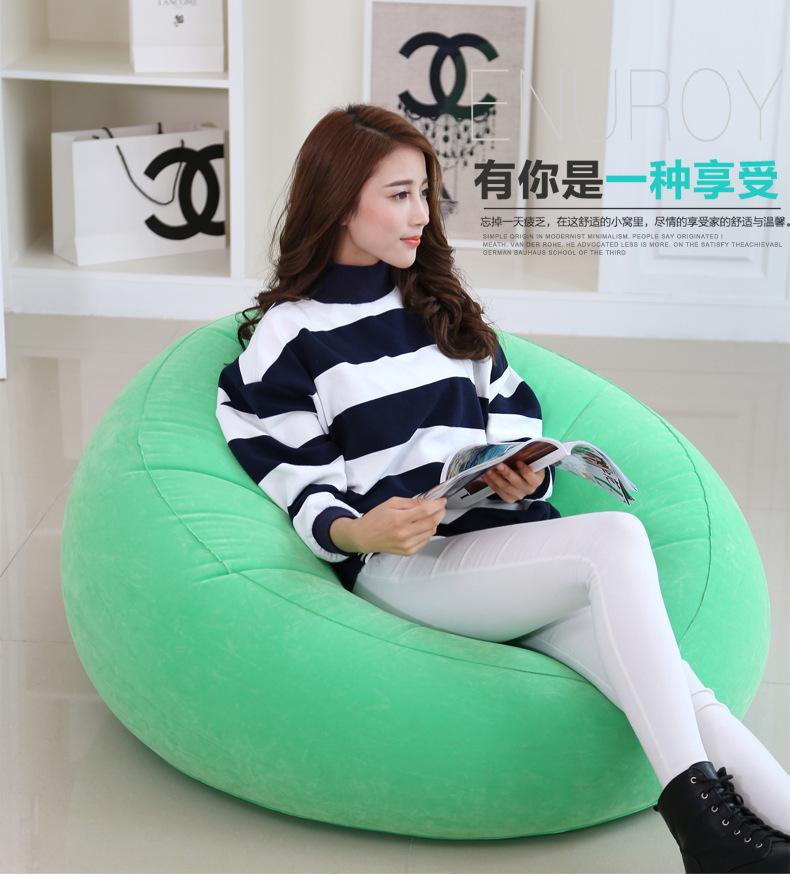 inflatable air bean bag chair , deep relax sofa home furniture, portable lazy chairs - 105 * 105 * 65cm size large oversized air inflatable bean bag chair 109 218 66cm pure black foldable sofa couch and beds