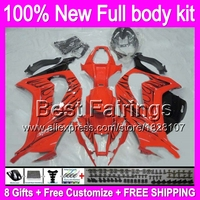 Fairing Injection For KAWASAKI NINJA ZX10R Black Flames ZX 10R 4B17 ZX 10R 11 12 13