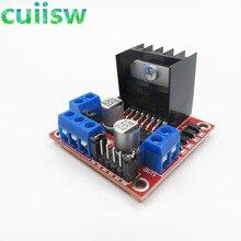 도매 가격 100 개/몫 새로운 듀얼 H 브리지 DC 스테퍼 모터 드라이브 컨트롤러 보드 모듈 L298N arduino