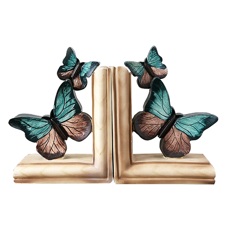 Vintage Blue Butterfly Book Stand Ornament Creative American Retro Resin Book Shelf Figurines Crafts Home Office Decoration GiftVintage Blue Butterfly Book Stand Ornament Creative American Retro Resin Book Shelf Figurines Crafts Home Office Decoration Gift