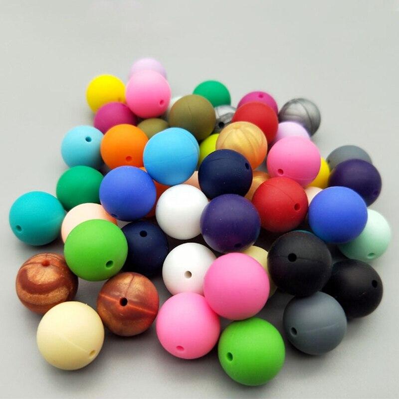 1 Pc Silikon Perlen Baby Zahnen Kautable Beißringe Sicheres Spielzeug Für Schnuller Kette Leine Dekoration Bpa Frei Duftendes Aroma