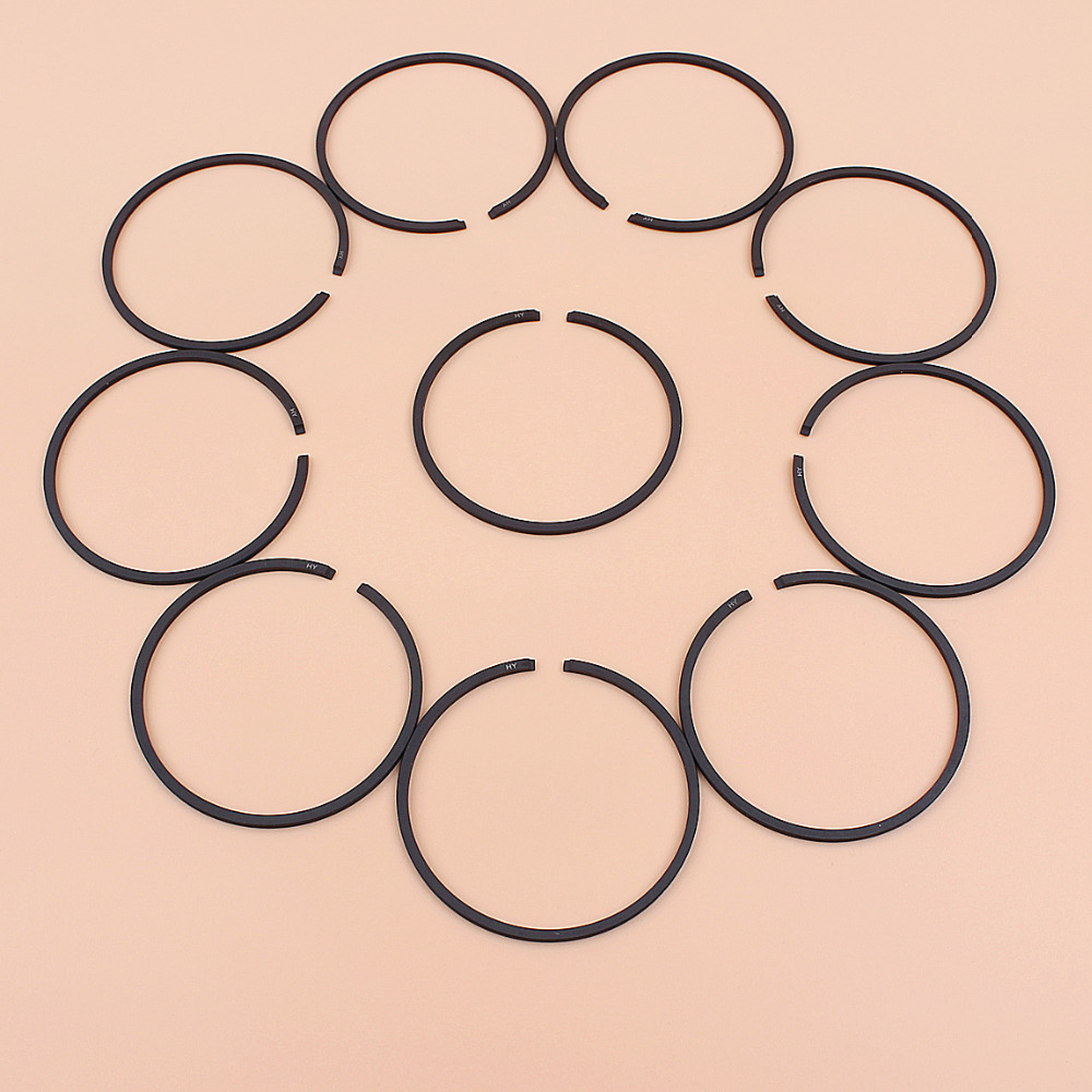 10pcs Piston Rings Kit For Husqvarna 359 362 362XP 455 Rancher 460 Chainsaw Parts 47mm * 1.5mm
