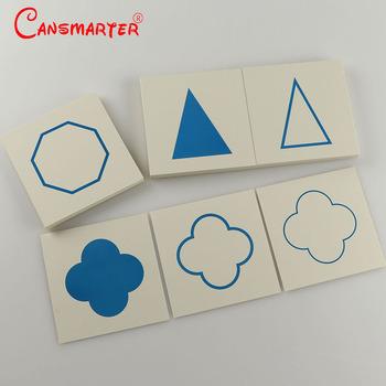 Montessori Educational Teaching Cards for Geome Demonstration Tray Card Toys Paper Materials 108 Pieces Early Learning SE037-A3