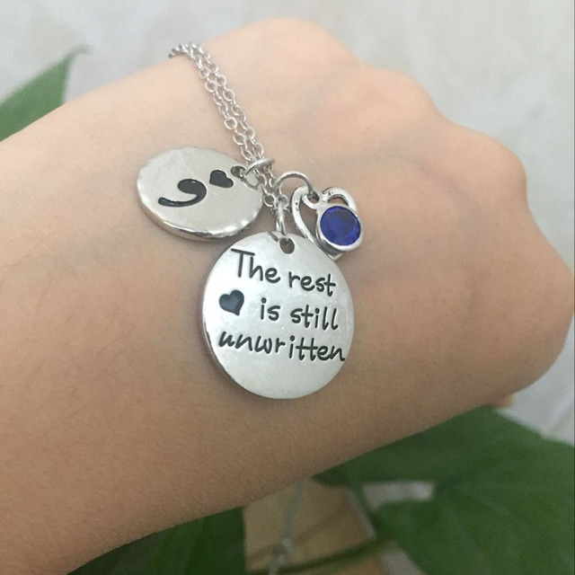 The Rest is Still Unwritten Pendant Necklace