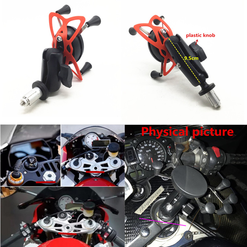 Phone Holder In Fork Stem Mount Bracket Motorcycle GPS Navigation Bracket for Yamaha YZF R1 2002-2017 R6 2006-2017 R1M 2007 2008